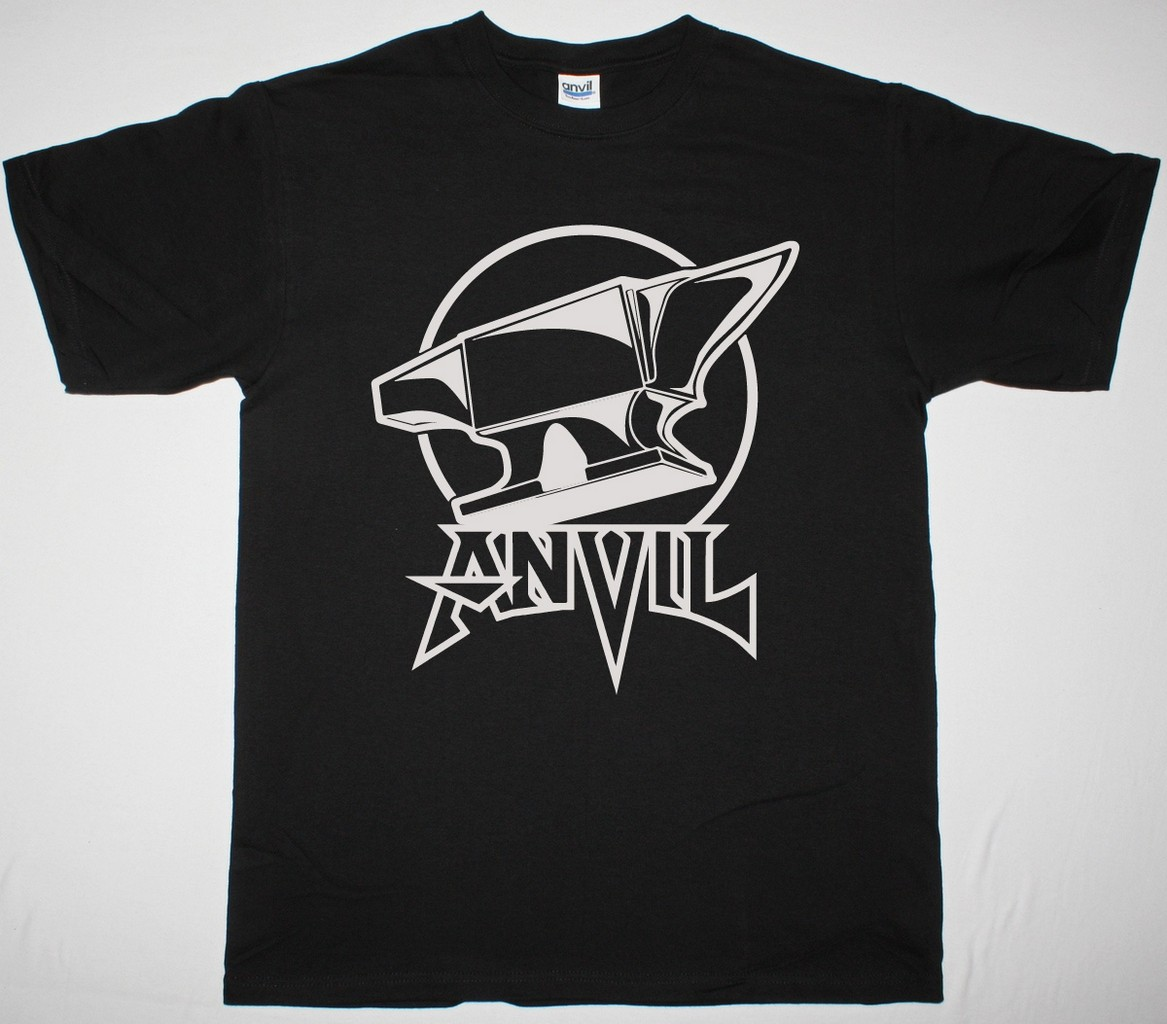 Anvil on anvil logo new black t shirt best rock t shirts for Where are anvil shirts made