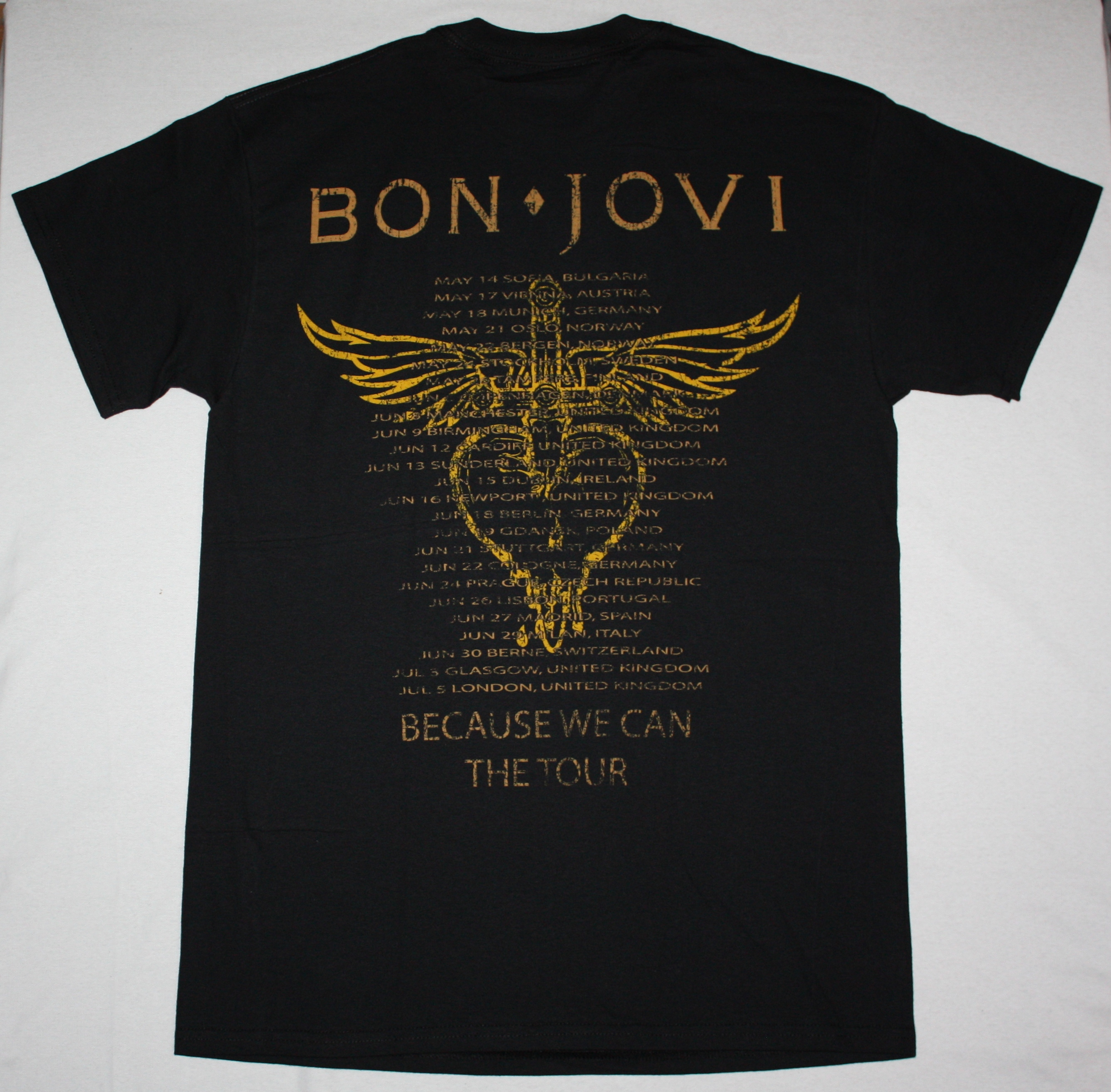 BON JOVI WHAT DO YOU GOT NEW BLACK T-SHIRT