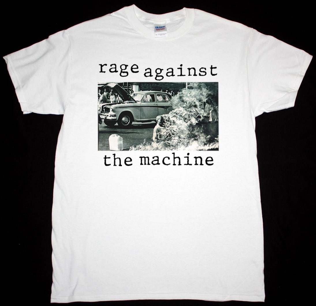 RAGE AGAINST THE MACHINE RATM 1992 NEW WHITE T-SHIRT