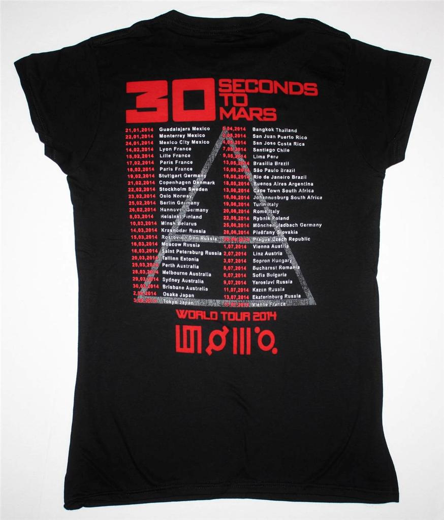 30 SECONDS TO MARS WORLD TOUR 2014  NEW LADY T-SHIRT