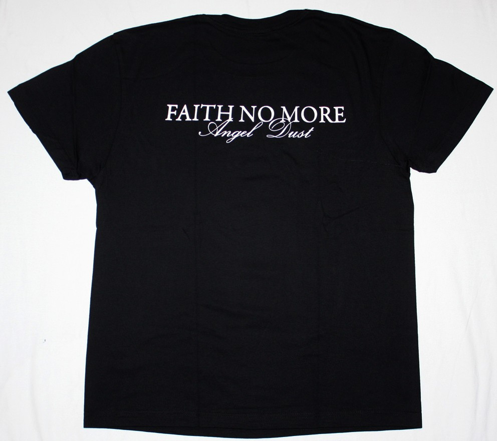 FAITH NO MORE ANGEL DUST'92 NEW BLACK T-SHIRT