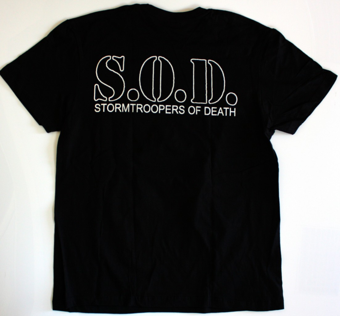 S.O.D. STORMTROOPERS OF DEATH'85 NEW BLACK T-SHIRT