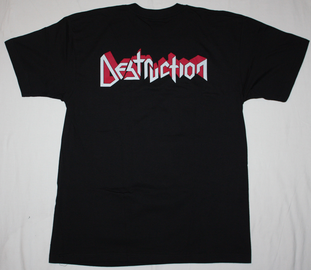 DESTRUCTION ETERNAL DEVASTATION'86  NEW BLACK T-SHIRT