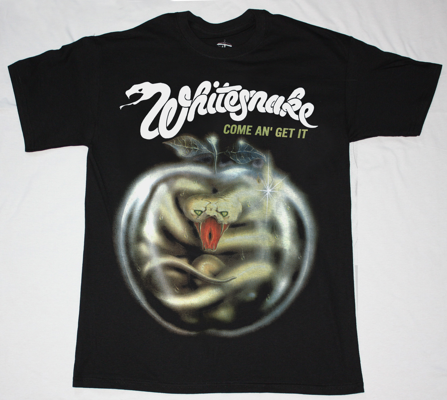 T shirt whitesnake - Whitesnake Come An Get It 81 New Black T Shirt