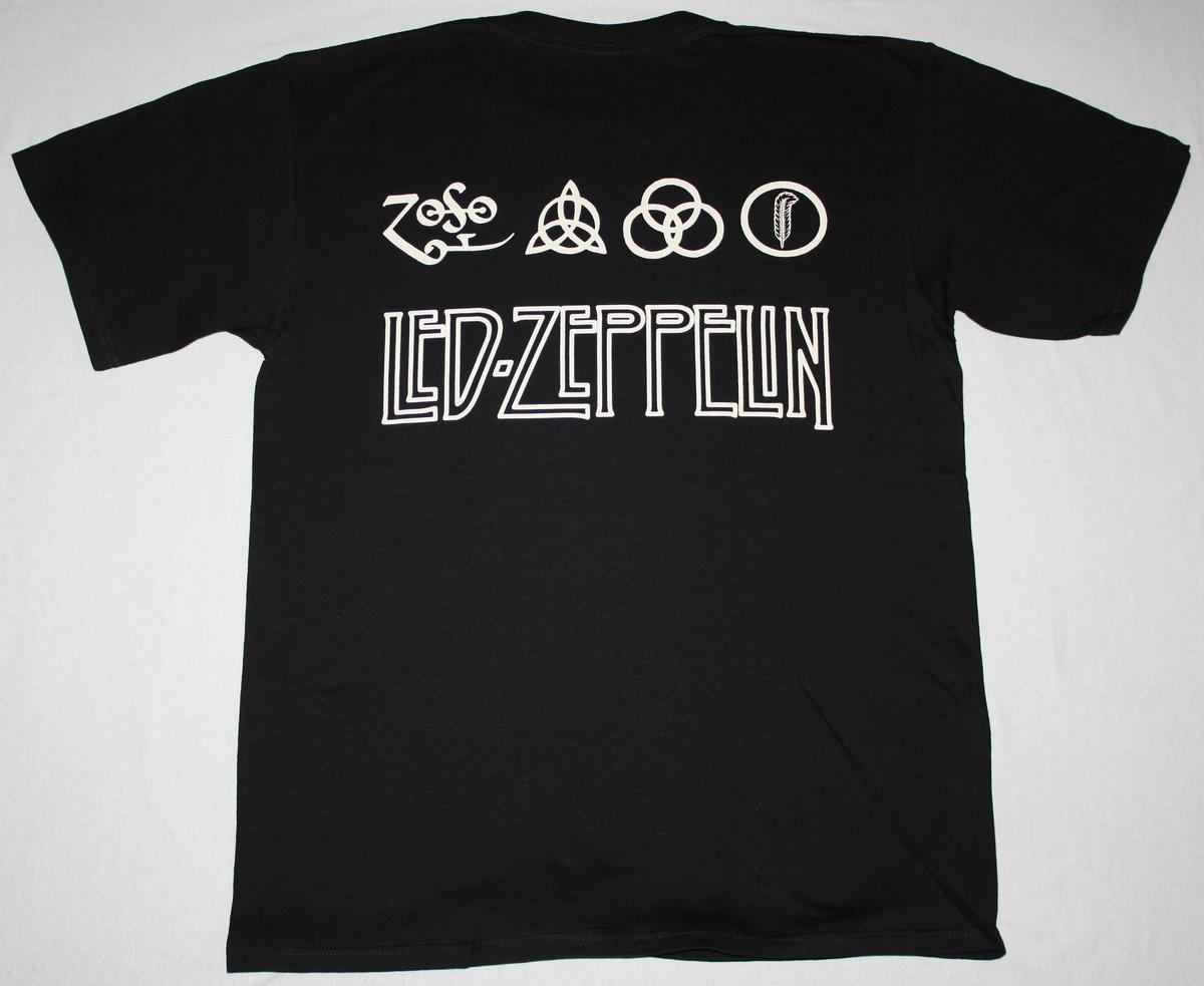 LED ZEPPELIN  BAND NEW BLACK T-SHIRT
