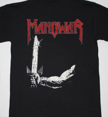 MANOWAR BATTLE HYMNS'82 NEW BLACK T-SHIRT