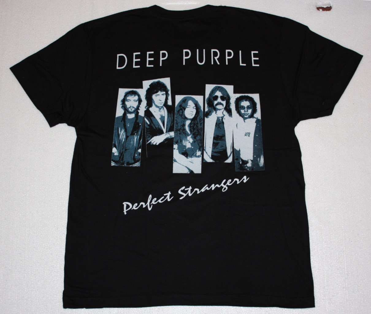 DEEP PURPLE PERFECT STRANGERS'84 NEW BLACK T-SHIRT