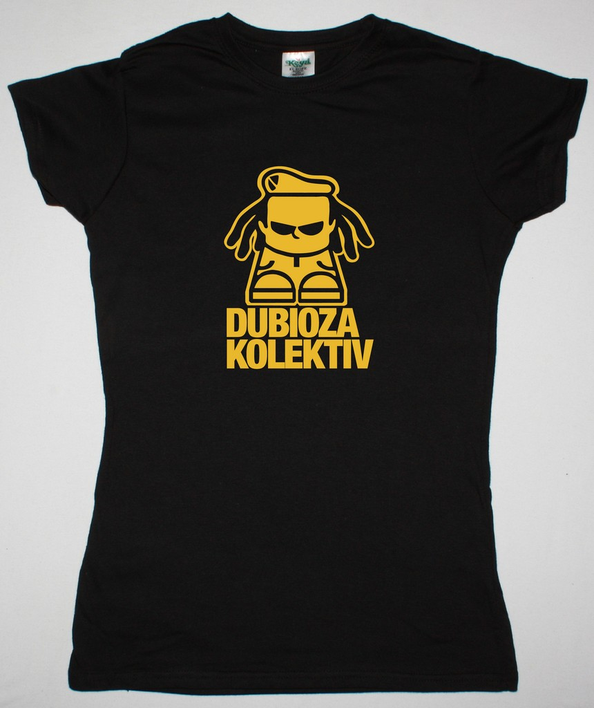 DUBIOZA KOLEKTIV LOGO NEW BLACK LADY T-SHIRT