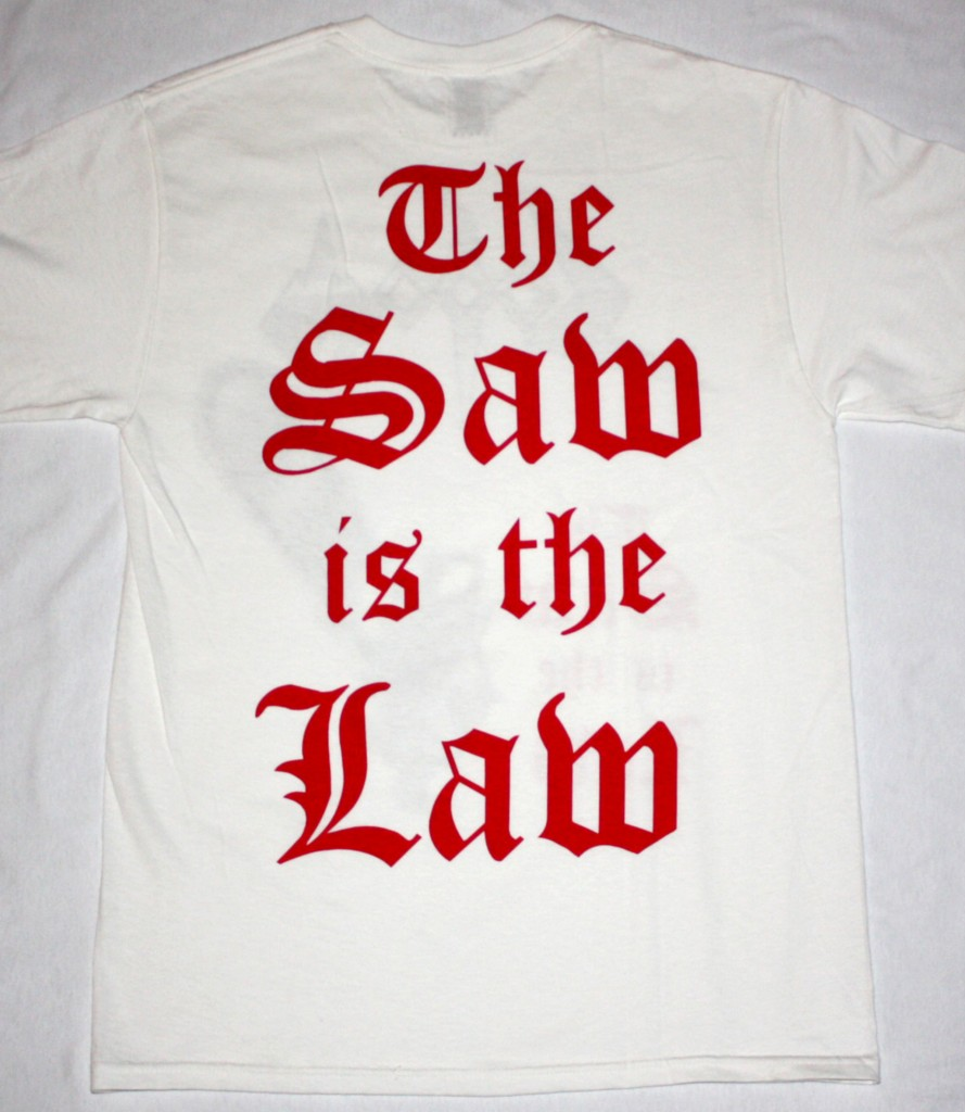 SODOM THE SAW IS THE LAW '91 NEW WHITE T-SHIRT