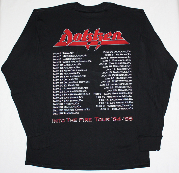 DOKKEN TOOTH AND NAIL'84 NEW BLACK LONG SLEEVE T-SHIRT