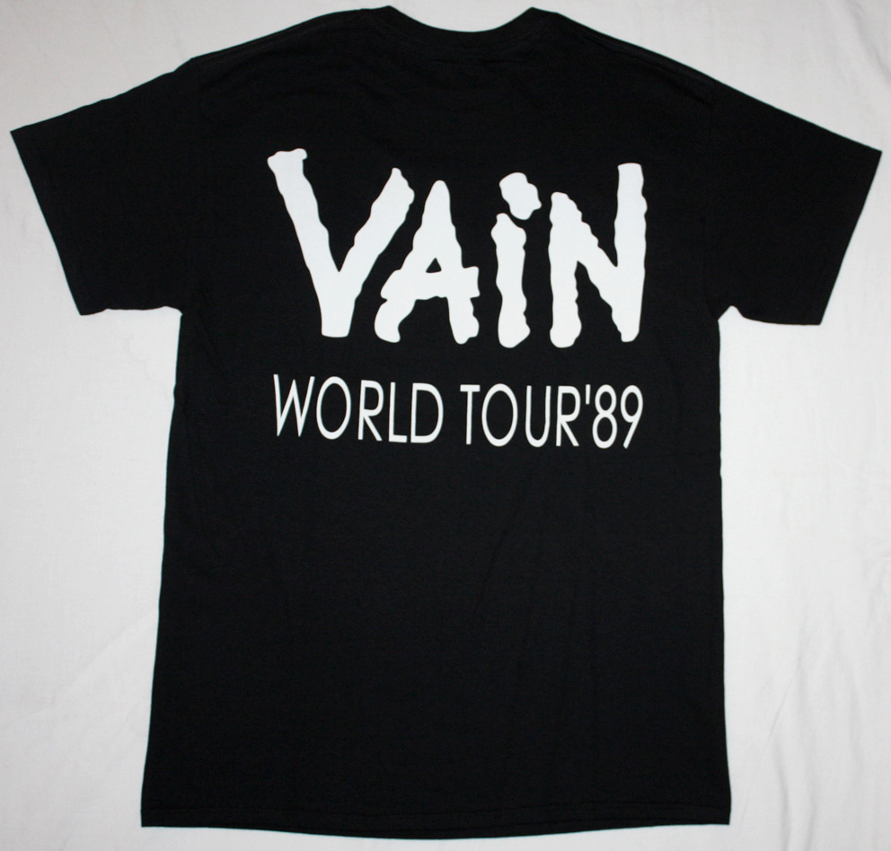 VAIN NO RESPECT '89  NEW BLACK T-SHIRT