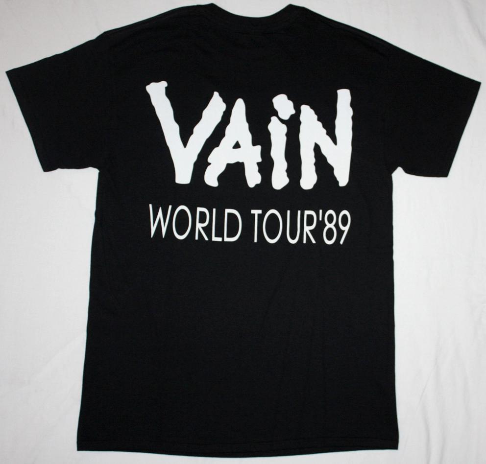 VAIN NO RESPECT '89  NEW BLACK T-SHIRT