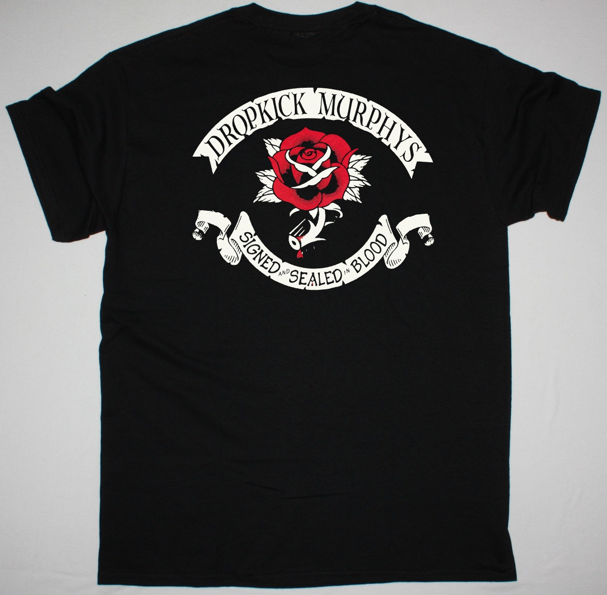 DROPKICK MURPHYS SIGNED AND SEALED IN BLOOD NEW BLACK T SHIRT