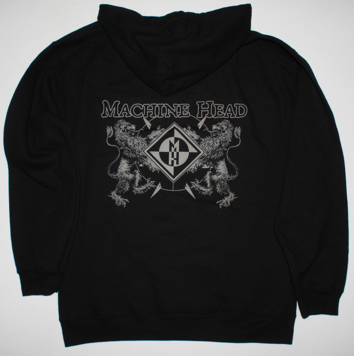 MACHINE HEAD BLOODSTONE AND DIAMONDS NEW BLACK ZIPPED HOODIE