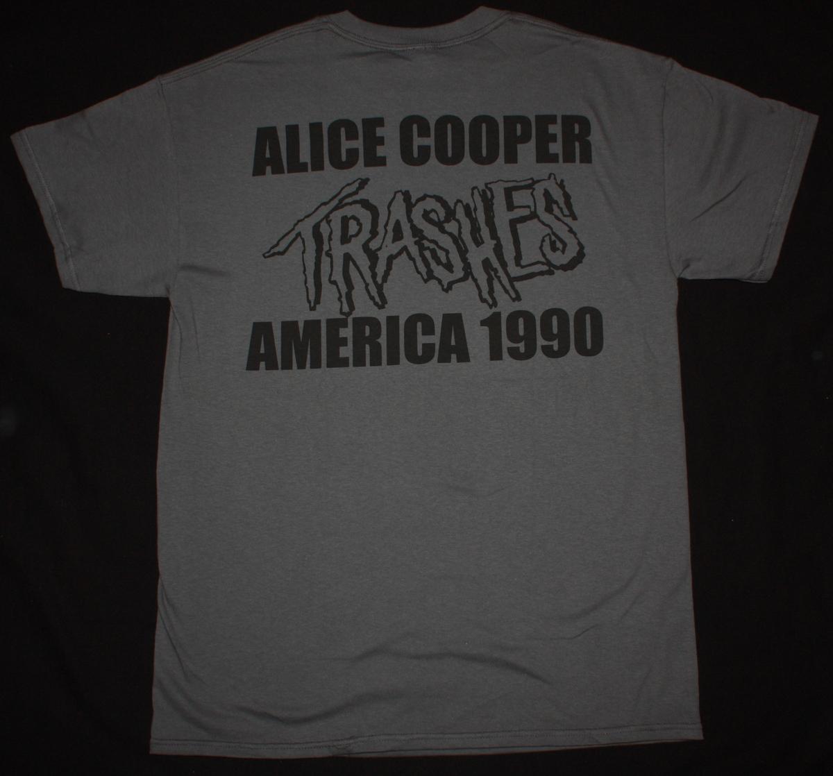 ALICE COOPER TRASH NEW GREY T SHIRT