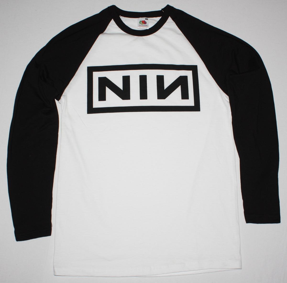 NINE INCH NAILS LOGO NIN TRENT REZNOR NEW WHITE/BLACK LONG SLEEVE ...