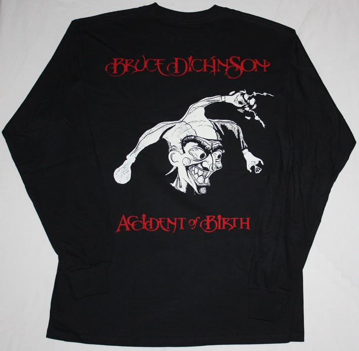 BRUCE DICKINSON ACCIDENT AT BIRTH'97 NEW BLACK LONG SLEEVE T-SHIRT