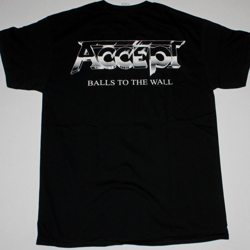 ACCEPT BALLS TO THE WALL'83 NEW BLACK T-SHIRT