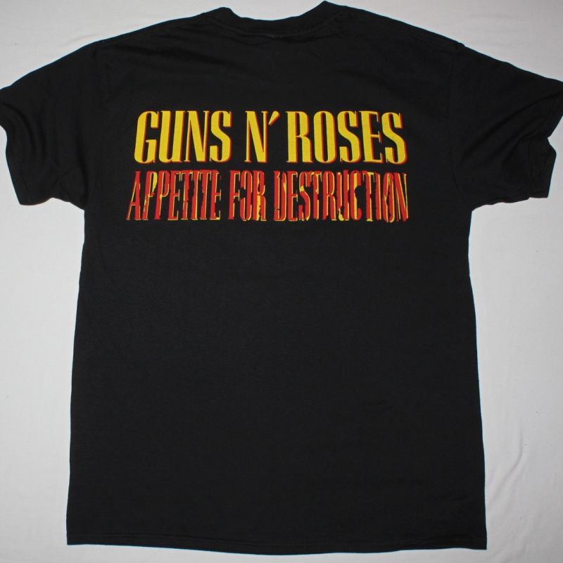 GUNS N ROSES APPETITE FOR DESTRUCTION '87 NEW BLACK RARE T-SHIRT