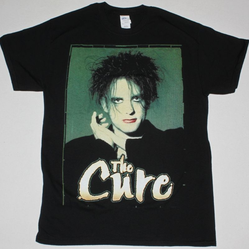 THE CURE ROBERT SMITH NEW BLACK T-SHIRT