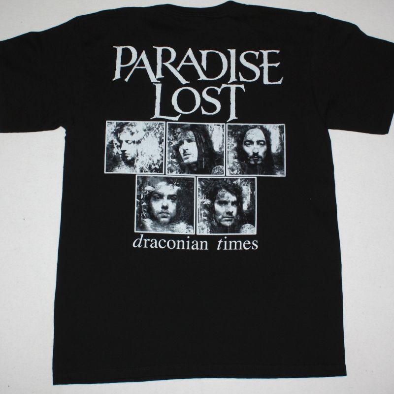 PARADISE LOST DRACONIAN TIMES'95 NEW BLACK T-SHIRT