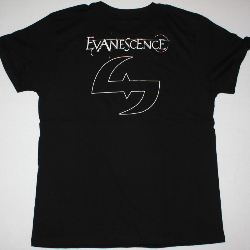 EVANESCENCE LOTUS NEW BLACK T-SHIRT
