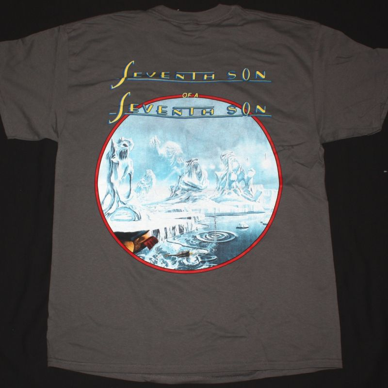 IRON MAIDEN SEVENTH SON OF A SEVENTH SON NEW GREY T-SHIRT