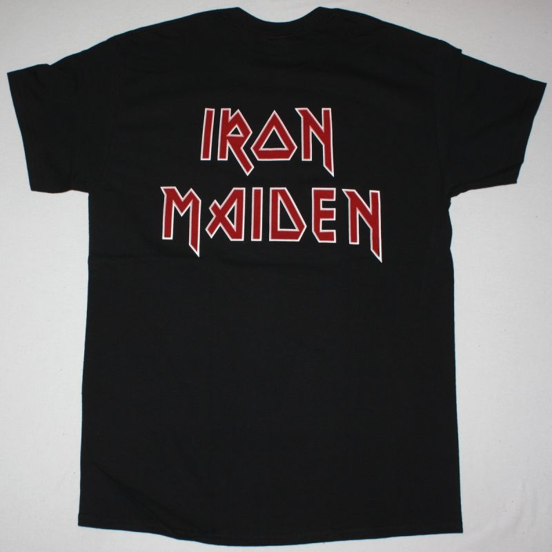 IRON MAIDEN EDDIE MIDDLE FINGER CANDLE NEW BLACK T SHIRT