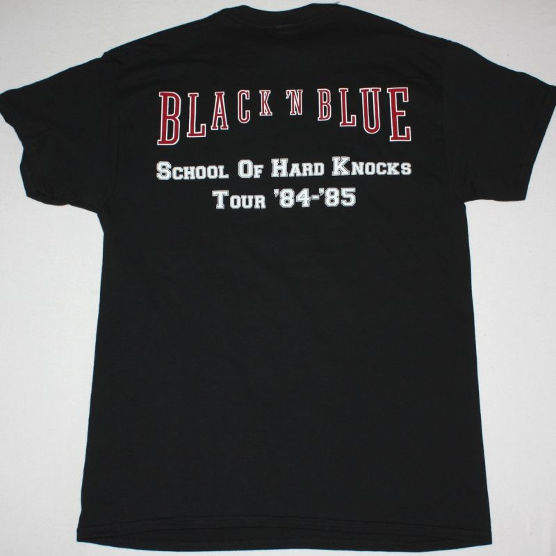 BLACK N BLUE BLACK'N BLUE 1984 NEW BLACK T-SHIRT