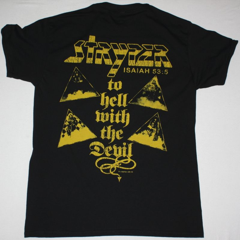 STRYPER TO HELL WITH THE DEVIL NEW BLACK T-SHIRT
