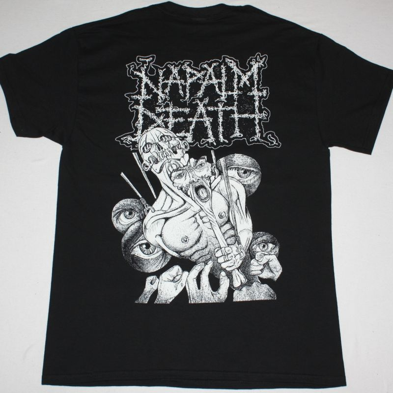 NAPALM DEATH MASS APPEAL MADNESS NEW BLACK T-SHIRT