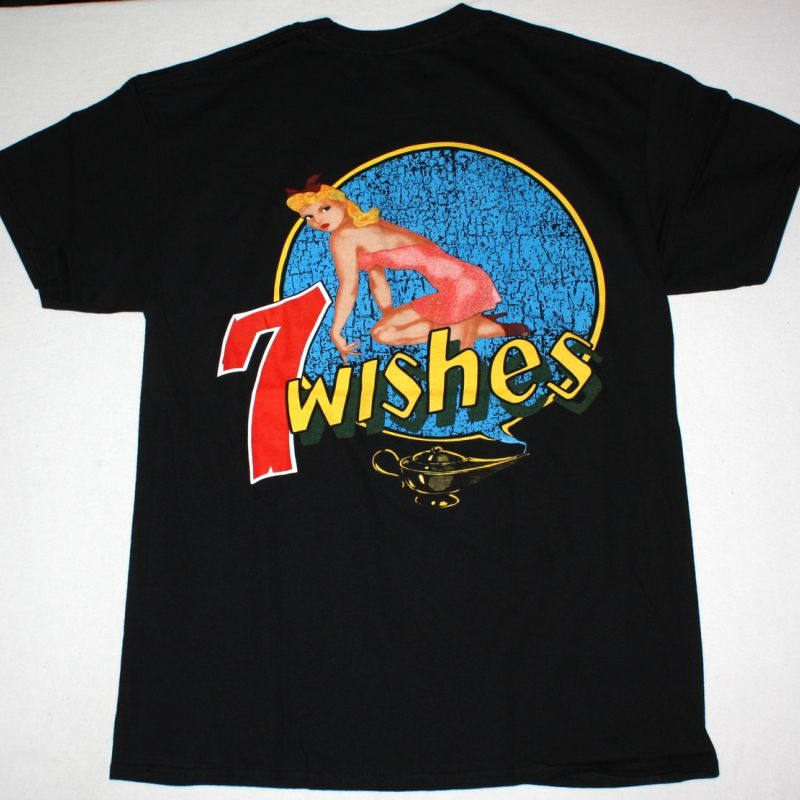 NIGHT RANGER 7 WISHES 1985 NEW BLACK T-SHIRT