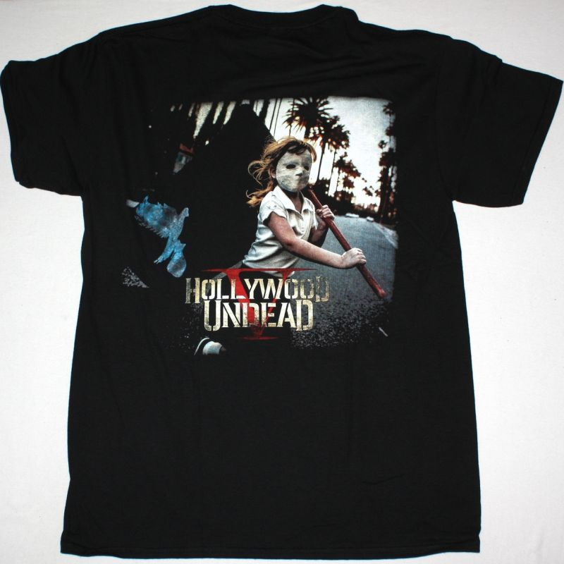 HOLLYWOOD UNDEAD FIVE NEW BLACK T-SHIRT