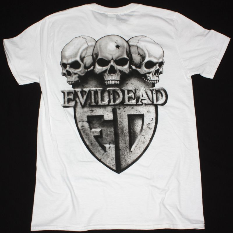 EVILDEAD ANNIHILATION OF CIVILIZATION 1989 NEW WHITE T-SHIRT