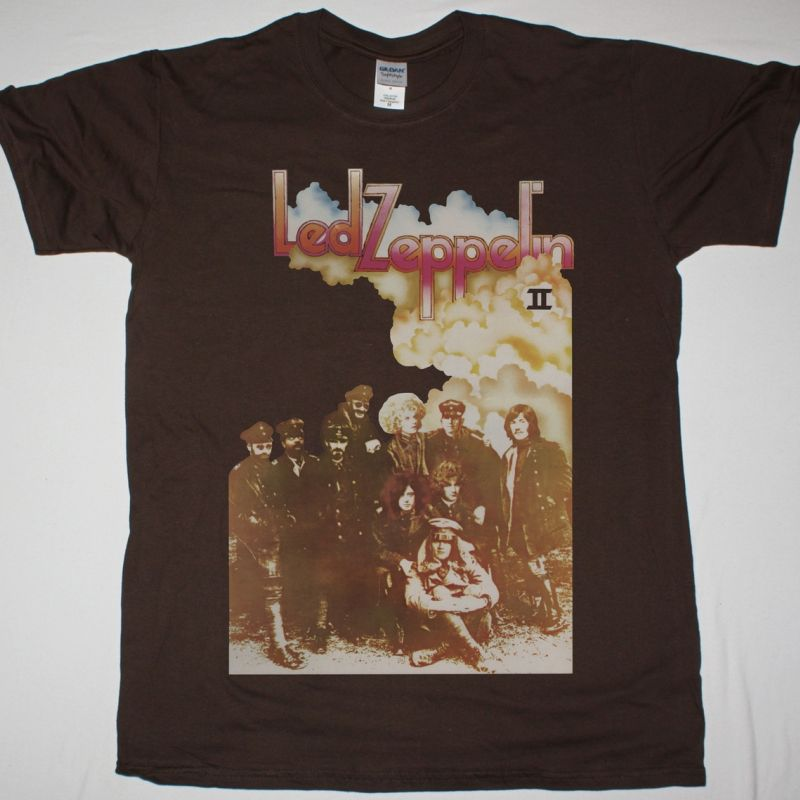 9c629830 LED ZEPPELIN II NEW BROWN T SHIRT - Best Rock T-shirts