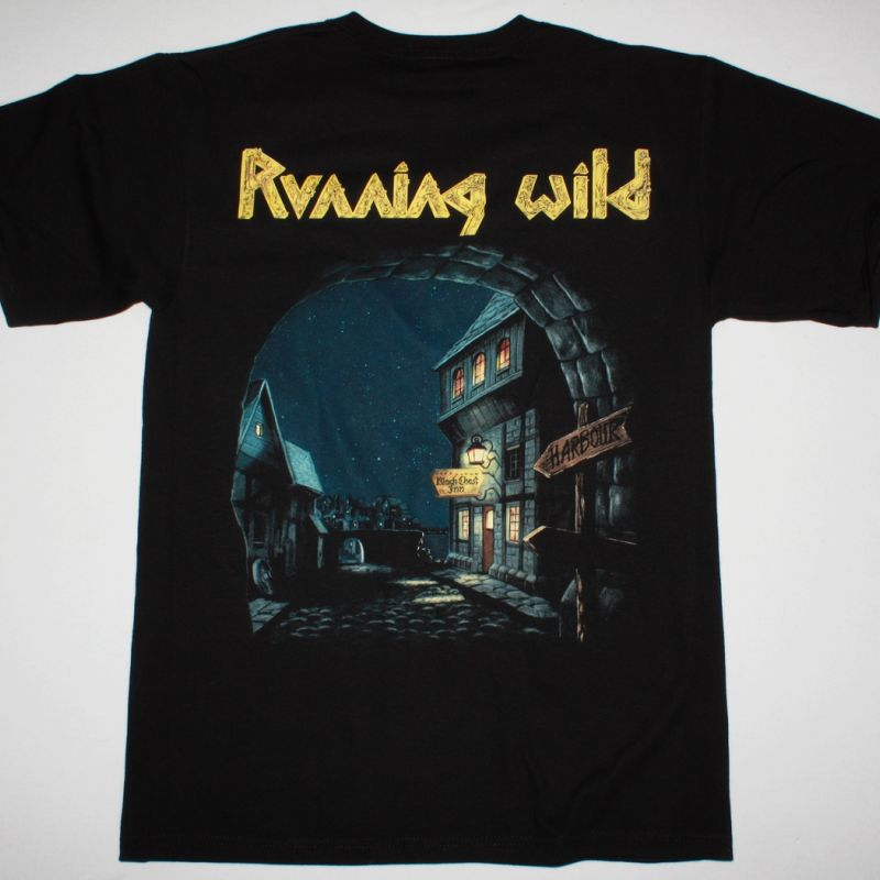 RUNNING WILD PORT ROYAL'88 NEW BLACK T-SHIRT