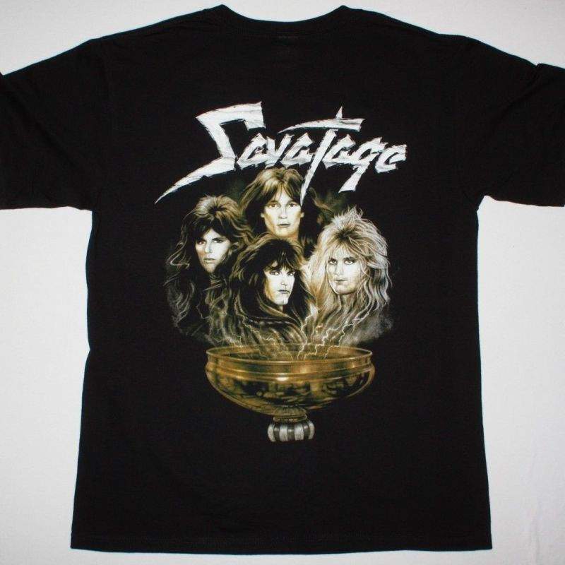 SAVATAGE HALL OF THE MOUNTAIN KING NEW BLACK T-SHIRT