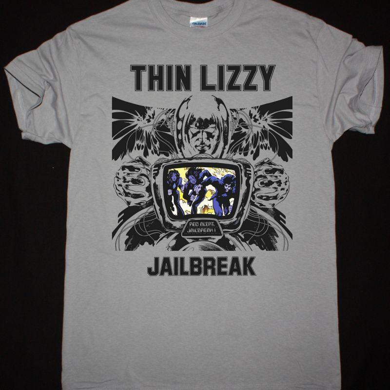 THIN LIZZY JAILBREAK NEW LIGHT GREY T-SHIRT