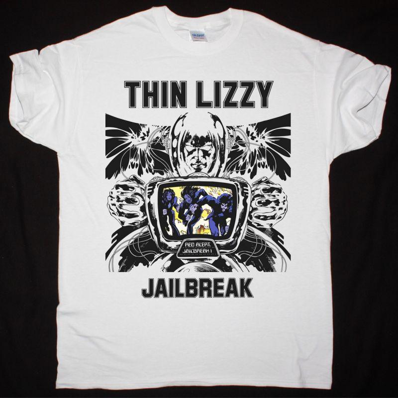 THIN LIZZY JAILBREAK NEW WHITE T-SHIRT