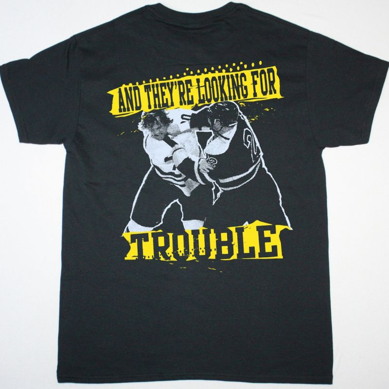 DROPKICK MURPHYS THE BOYS ARE BACK AND THEY'RE LOOKING FOR TROUBLE NEW BLACK T SHIRT