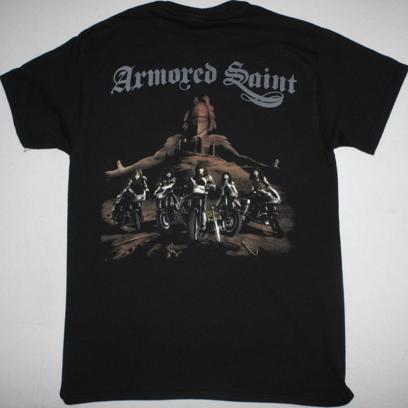ARMORED SAINT MARCH OF THE SAINT NEW BLACK T SHIRT