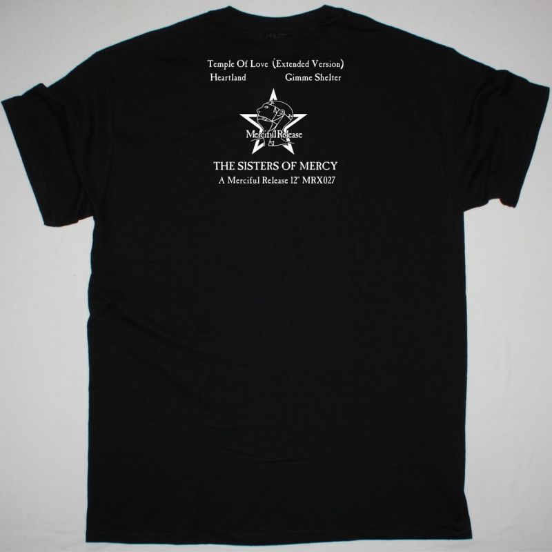 THE SISTERS OF MERCY TEMPLE OF LOVE  NEW BLACK T-SHIRT