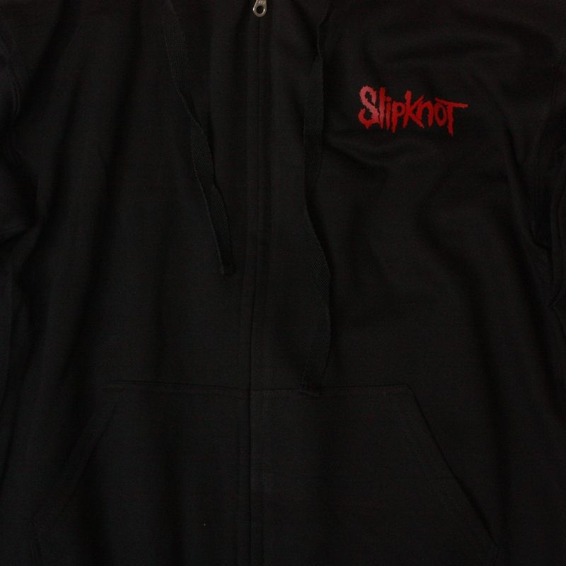 SLIPKNOT LOGO NEW BLACK ZIPPED HOODIE