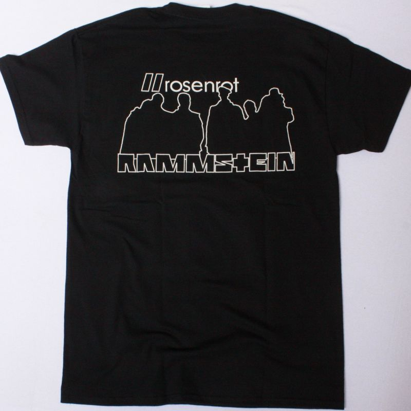 RAMMSTEIN ROSENROT NEW BLACK T-SHIRT