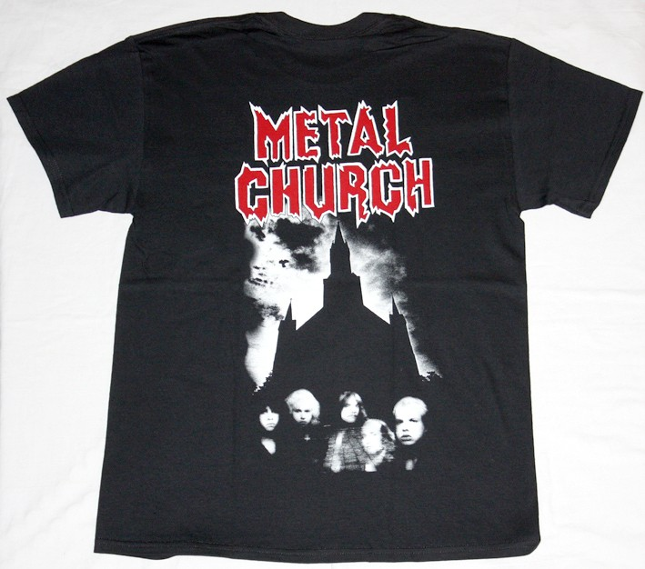 METAL CHURCH S/T 1984 NEW BLACK T-SHIRT