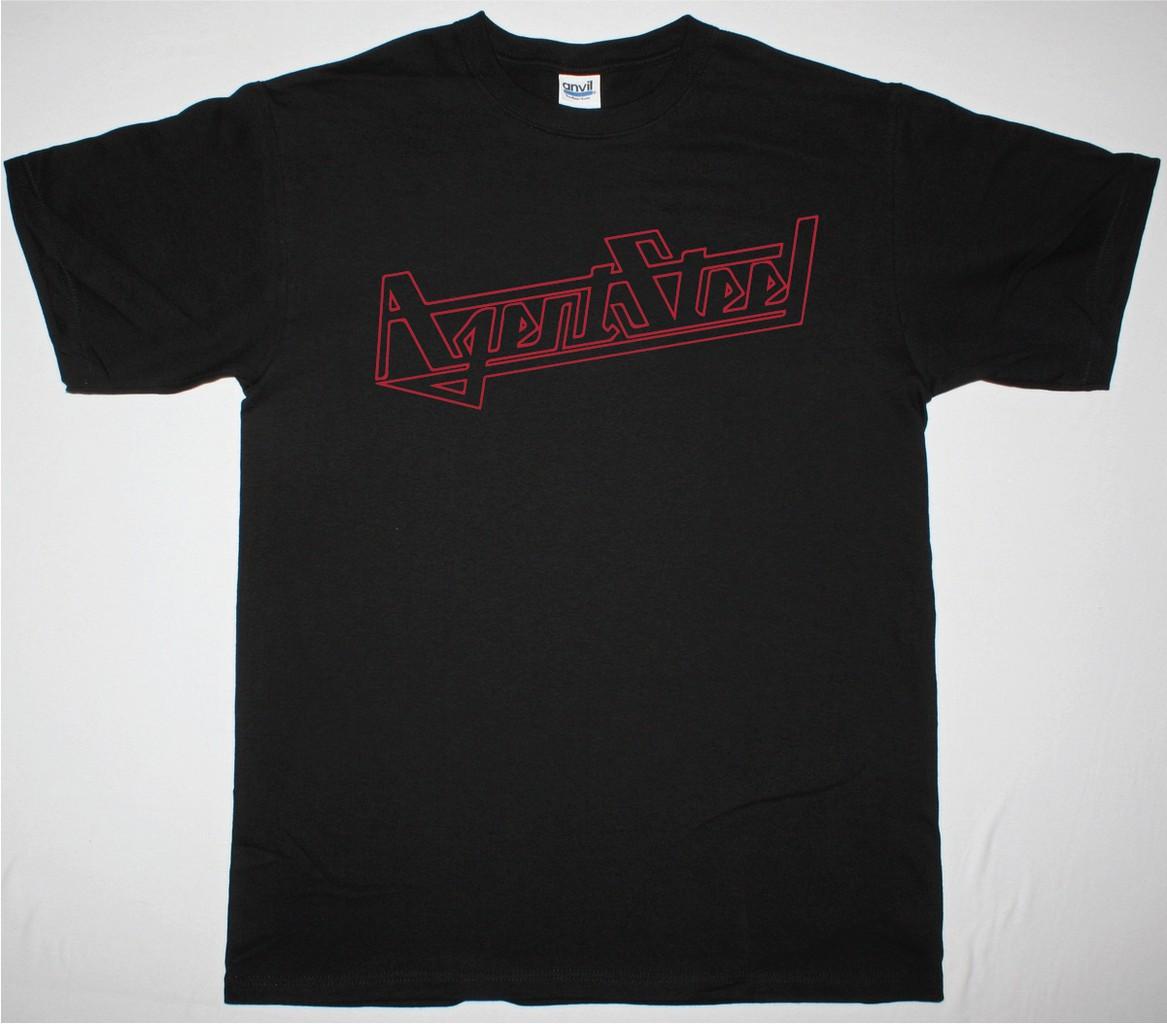 agent steel logo new black t shirt best rock t shirts. Black Bedroom Furniture Sets. Home Design Ideas