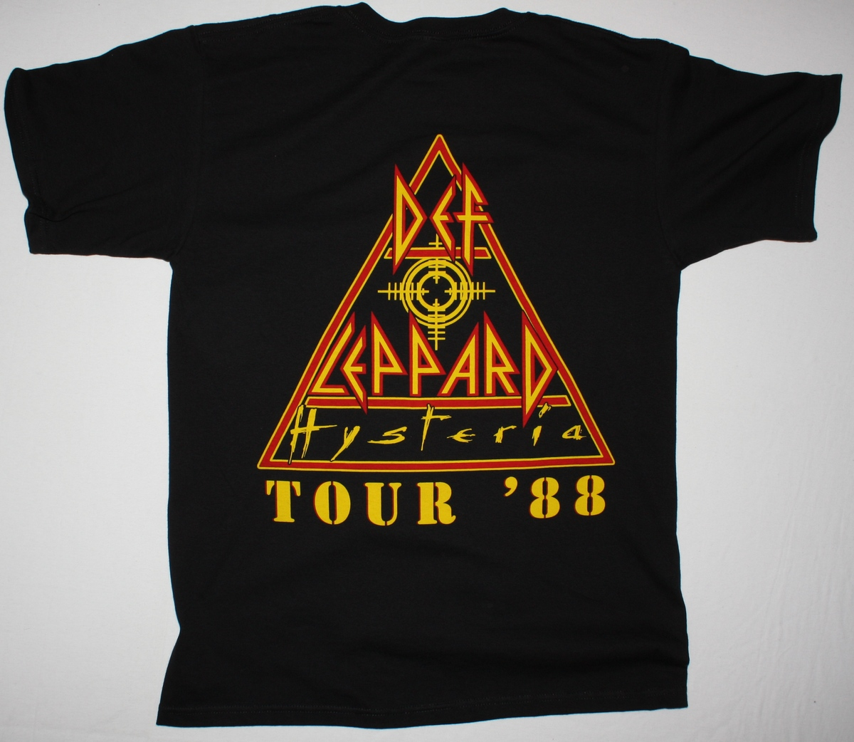 DEF LEPPARD HYSTERIA 87 NEW BLACK T-SHIRT