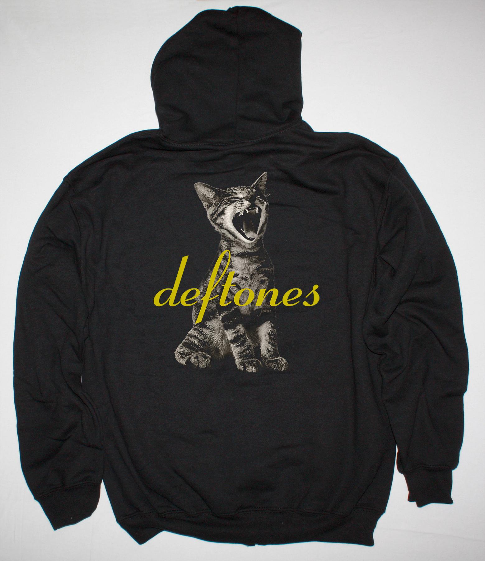 DEFTONES ADRENALINE NEW BLACK ZIPPED HOODIE