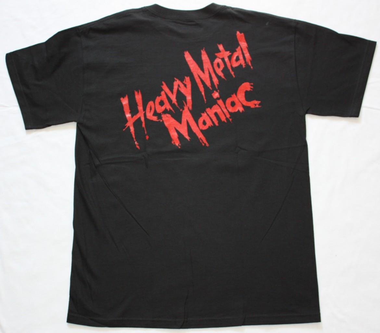 EXCITER HEAVY METAL MANIAC'83 NEW BLACK T-SHIRT