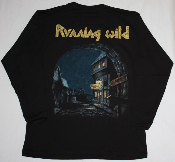 RUNNING WILD PORT ROYAL'88 NEW BLACK LONG SLEEVE T-SHIRT